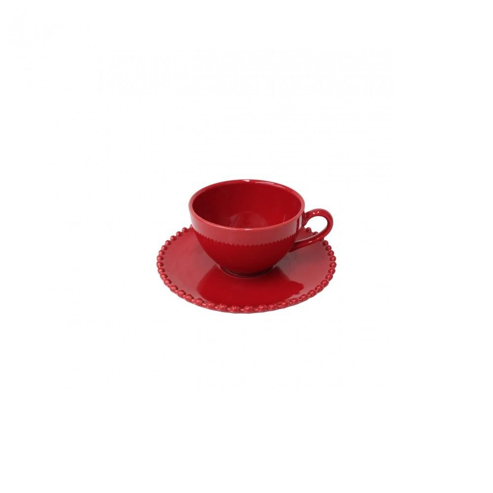 PEARL RUBI TEA CUP & SAUCER