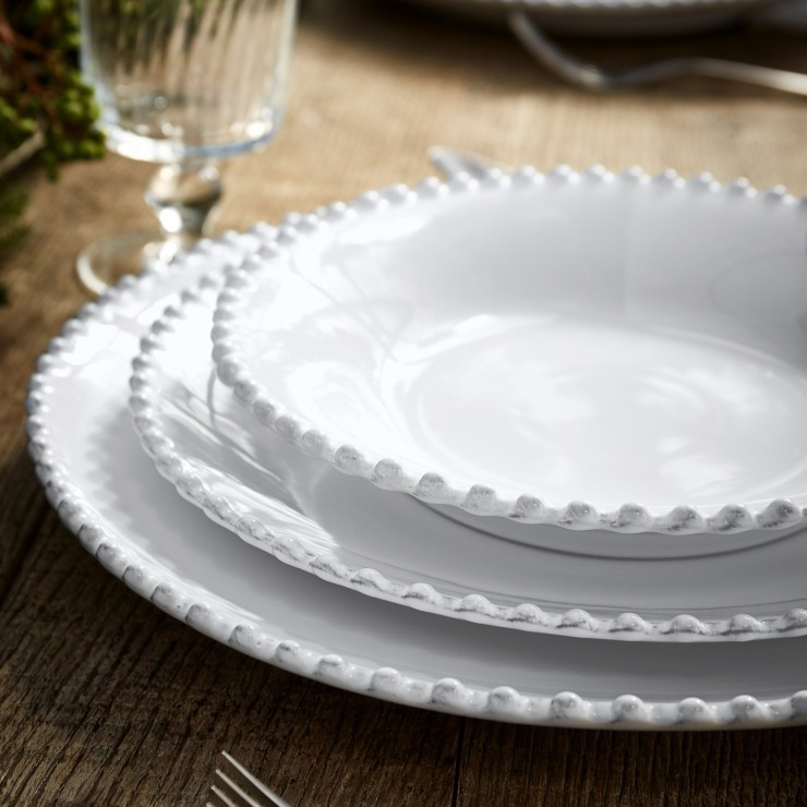 "SOUP/PASTA PLATE 10"" PEARL"