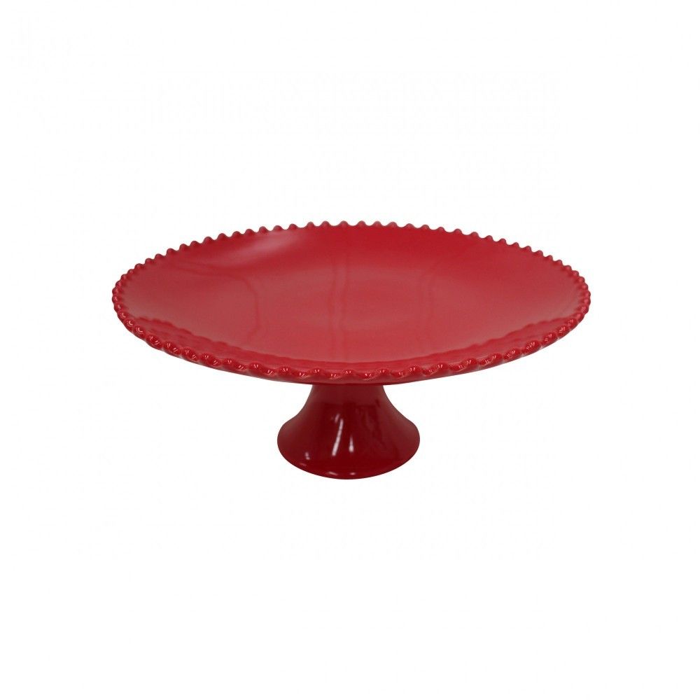 "PEARL RUBI 13"" FOOTED PLATE"