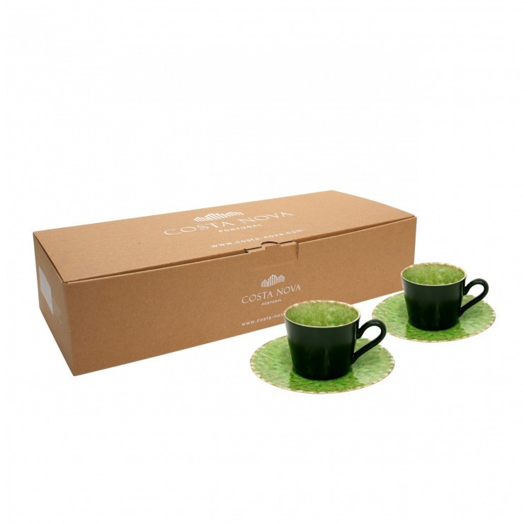 RIVIERA 2 TEA CUPS & SAUCER GIFT BOX