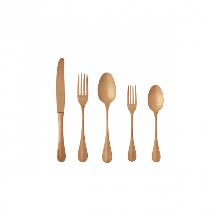NAU FLATWARE 20 PCS - BRUSHED COPPER