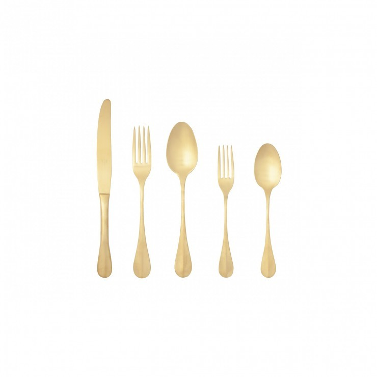 NAU FLATWARE 5 PCS - BRUSHED GOLD