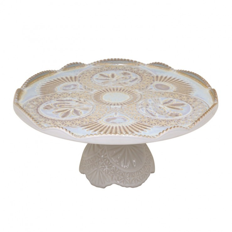 """FOOTED PLATE 12"""" CRISTAL"""
