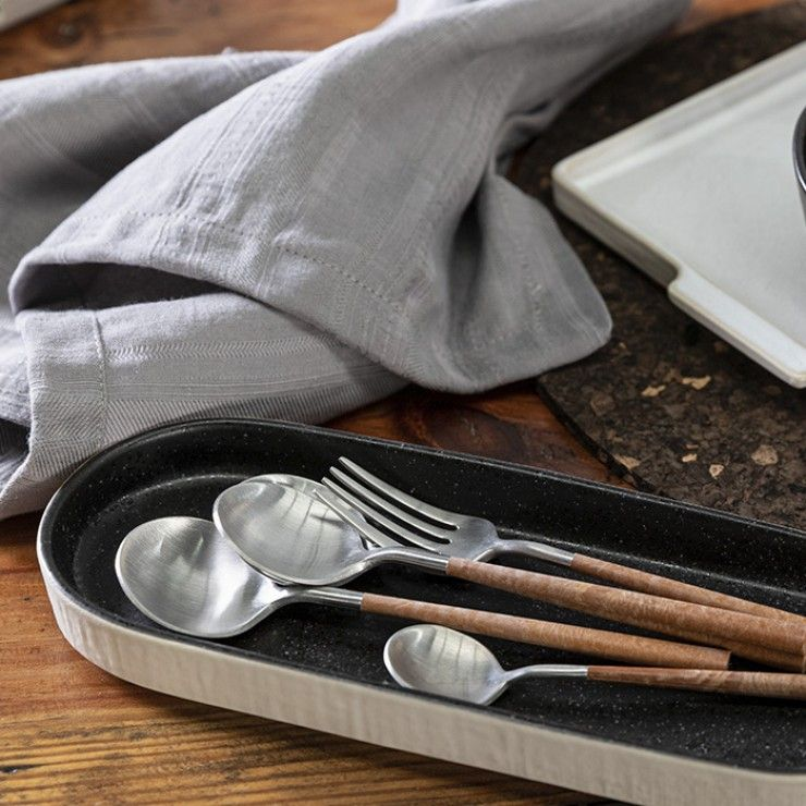 MITO FLATWARE 5 PCS SET - BRUSHED WITH RESIN CABLES