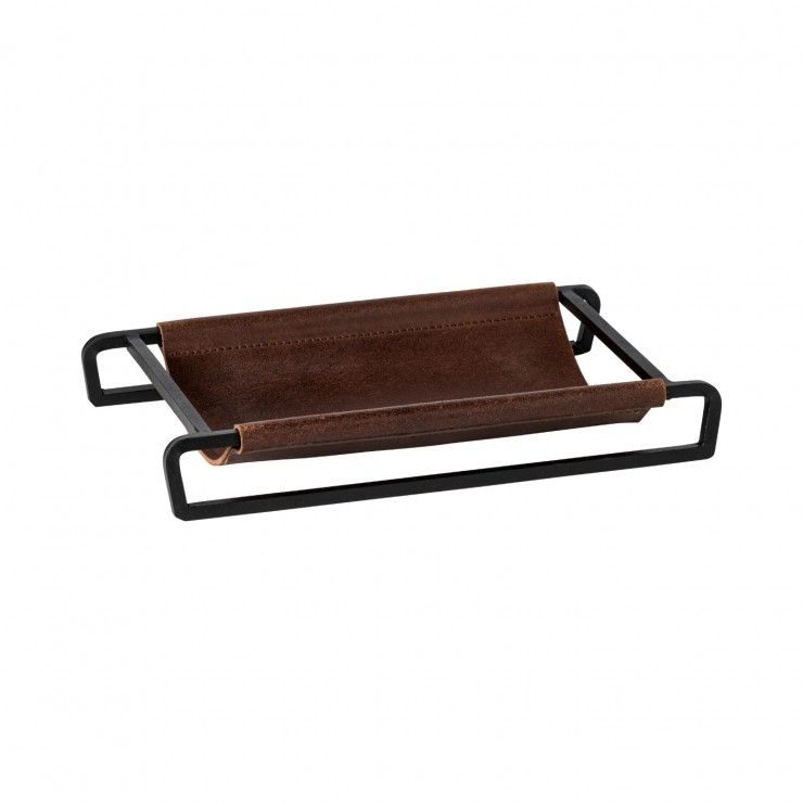 """LEATHER RECT. TRAY/BASKET 10"""" LEATHER COLLECTION"""