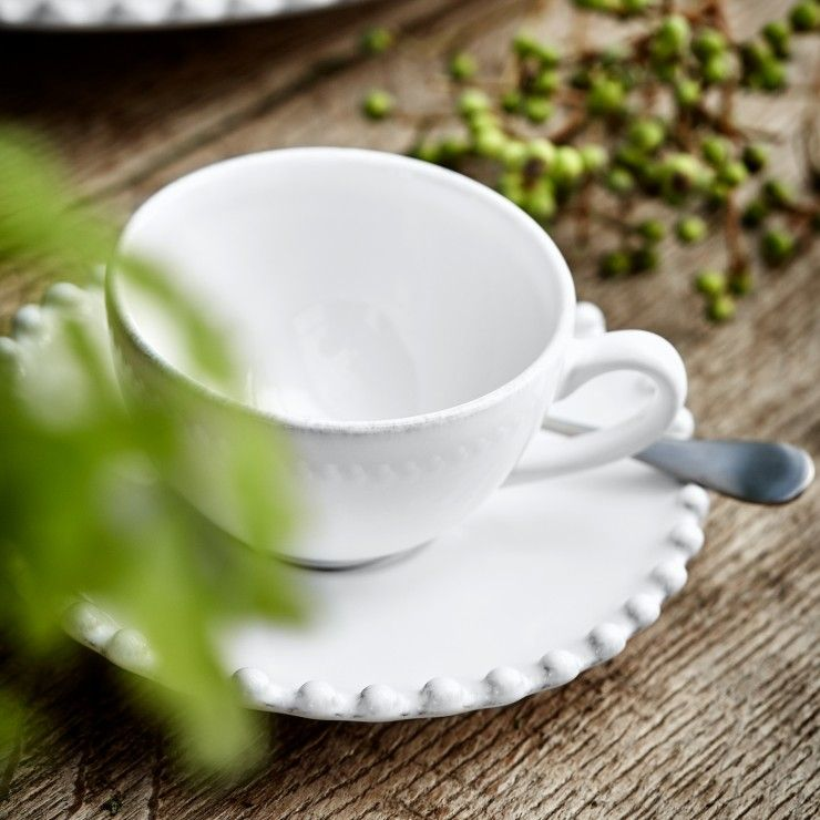 COFFEE CUP AND SAUCER 3 OZ. PEARL